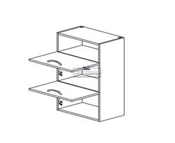 Корпус навесной под газ-лифт (2 двери) - (ниша сверху) 920*500*300 мм. - фото 11409