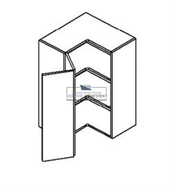 Корпус навесной угловой на 2 двери (2 полки) 920*600*300 мм.  - фото 14381