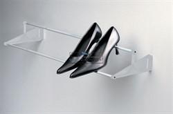 Полка для обуви Tac универсальная, 560-960мм, отделка серая - фото 21495