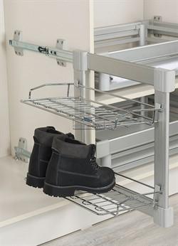 S-6281-G (S-6281) Полка Starax для обуви двухъярусная (300х470х520) с доводчиком, левая - фото 23959