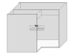 Корпус под мойку (угловая 900х900) на 2  двери - фото 30071