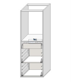 Корпус под духовку под 3 ящика (2 +1 внутренний) 1320*450*560 мм.  - фото 30261