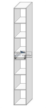 Колонка (под 1 ящик с полками) 2080*300*560 мм. - фото 30559