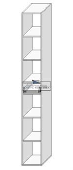 Колонка (под 1 ящик с полками) 2280*300*560 мм. - фото 30565