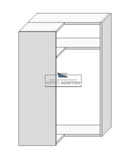Корпус навесной (угловой на две двери под сушку) 960*600*600*300мм. - фото 30803