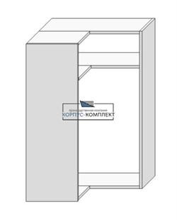 Корпус навесной (под сушку угловой на две двери) 920*600*600*300мм. - фото 30884