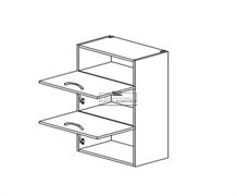 Корпус навесной под газ-лифт (2 двери) - (ниша сверху) 920*500*300 мм.