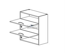 Корпус навесной под газ-лифт (2 двери) - (ниша сверху) 920*700*300 мм.