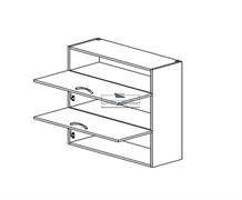 Корпус навесной под газ-лифт (2 двери) - (ниша сверху) 920*800*300 мм.