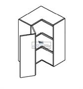 Корпус навесной угловой на 2 двери (2 полки) 920*600*300 мм.
