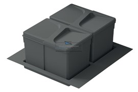 Система хранения в базу 500, H.216мм (ведра: 2х12л), цвет темно-серый