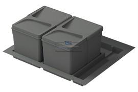 Система хранения в базу 600, H.216мм (ведра: 2х12л), цвет темно-серый