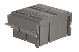 Система хранения в базу 600, H.304мм (ведра: 2х17л,2х8л), отделка орион серый