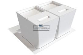 Система хранения в базу 600 (2 ведра), отделка белая
