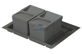 Система хранения в базу 800, H.216мм (ведра: 2х12л, 2х6л), цвет темно-серый