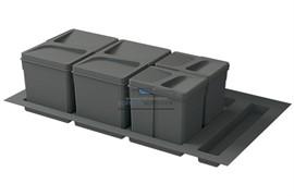 Система хранения в базу 900, H.216мм (ведра: 2х12л, 2х6л), цвет темно-серый