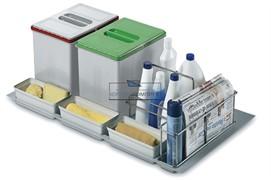 Набор емкостей в базу 900 для бытовой химии и раздельного сбора мусора
