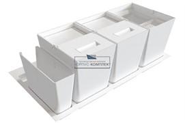 Система хранения в базу 900 (2 ведра + 2 контейнера), отделка белая