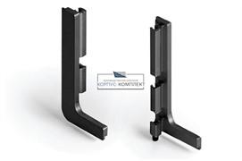 Gola Комплект открытых заглушек (2шт.) для профиля 8006, отделка черный шлифованный