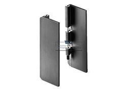 Gola Комплект закрытых заглушек (2шт.) для профиля 8007, отделка черный шлифованный