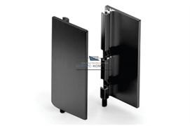 Gola Комплект закрытых заглушек (2шт.) для профиля 8006, отделка черный шлифованный