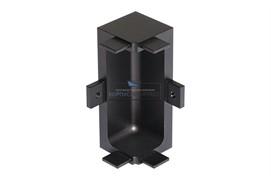 """Gola Угол 90"""" внутренний для профиля 8007, отделка черная шлифованный"""