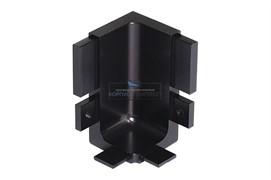 """Gola Угол 90"""" внутренний для профиля 8006, отделка черный шлифованный"""