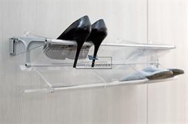 Комплект из 4 лотков для обуви, отделка транспарент