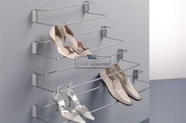 Полка для обуви с фронтальным креплением, 830-1130мм