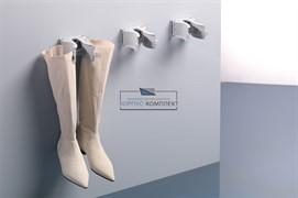 Зажим-держатель для обуви, серый пластик