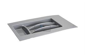 Ёмкость в базу 300-350 для столовых приборов, цвет серый
