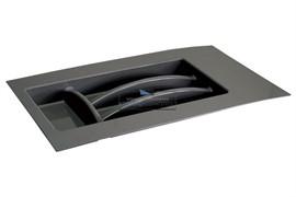 Ёмкость в базу 300-350 для столовых приборов, цвет темно-серый