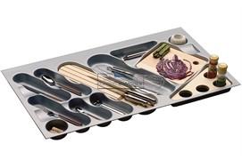 Ёмкость в базу 900 для столовых приборов, цвет серый металлик