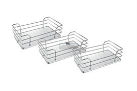 Комплект из 3-х сеток для колонны в базу 450, отделка хром + белый