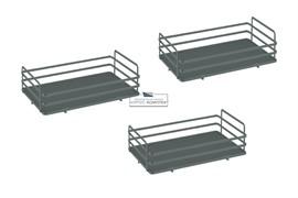 Ellite Комплект из 3-х сеток для колонны в базу 450, отделка орион серый
