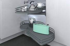 Механизм Combi'S 2 в угловую базу 900 мм, отделка орион серый, правый