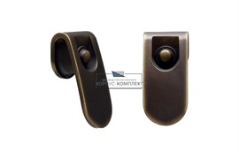 Ручка-кнопка, отделка бронза индустриальная