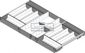 ZSI.90VEI4 Лоток ORGA-LINE с разделителями для ящика 900 х 450 мм