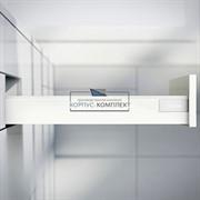 Низкий выдвижной ящик BLUM TANDEMBOX antaro N (500мм) Белый шелк
