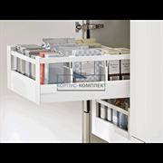Внутренний высокий ящик TANDEMBOX antaro C с одинарным релингом (350мм) Белый шелк