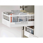 Внутренний высокий ящик TANDEMBOX antaro C с одинарным релингом (400мм) Белый шелк