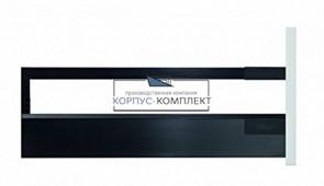 Высокий ящик TANDEMBOX antaro C со вставкой из стекла (400мм) Терра-черный
