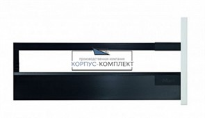 Высокий ящик TANDEMBOX antaro C со вставкой из стекла (450мм) Терра-черный