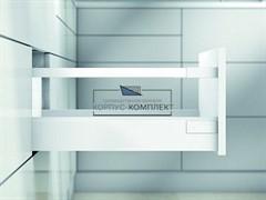 Высокий ящик TANDEMBOX antaro D с одинарным релингом (500мм) Белый шелк