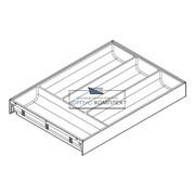 ZC7S450BS3 AMBIA-LINE Лоток для столовых приборов. Для стандартного ящика. Белый шелк \ Серый орион