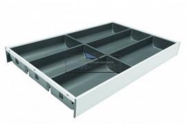 ZC7S500BS3 AMBIA-LINE Лоток для столовых приборов. Для стандартного ящика. Белый шелк \ Серый орион