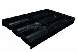 ZC7S500BS3 AMBIA-LINE Лоток для столовых приборов. Для стандартного ящика. Терра черный