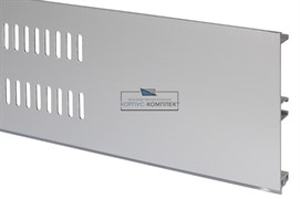 Решётка вентиляционная для цоколя H.100, L=600мм, отделка алюминий анодированный