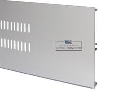 Решётка вентиляционная для цоколя H.150, L=600мм, отделка алюминий анодированный