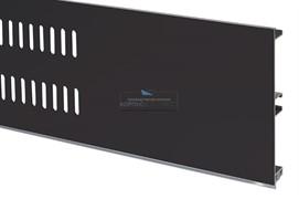Решётка вентиляционная для цоколя H.100, L=600мм, отделка черный шлифованный